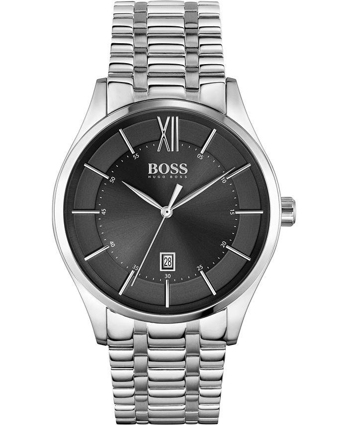 BOSS - Men's Distinction Stainless Steel Bracelet Watch 42mm