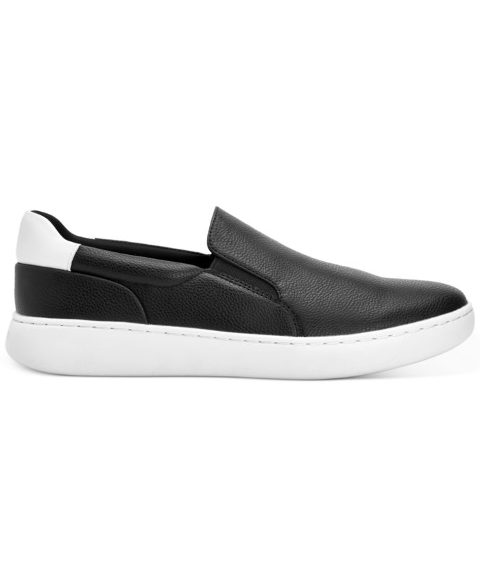 Calvin Klein Men's Fortun Tumbled Smooth Slip-on Sneakers & Reviews - All Men's Shoes - Men - Macy's