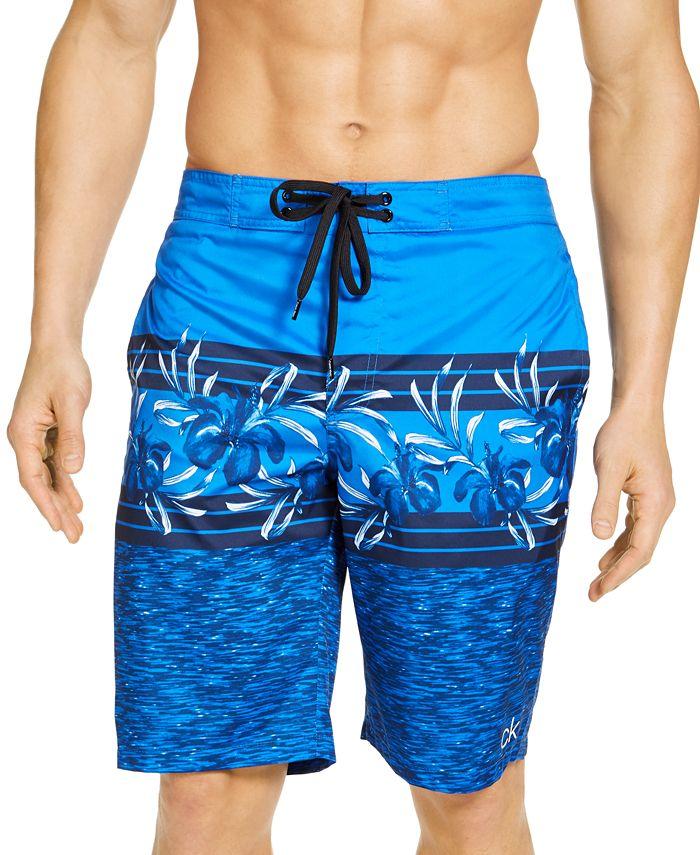 "Calvin Klein - Men's Floral-Print UPF 50+ 10"" E-Board Shorts"