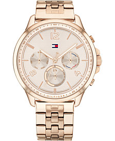 Tommy Hilfiger Women's Carnation Gold-Tone Stainless Steel Bracelet Watch 38mm
