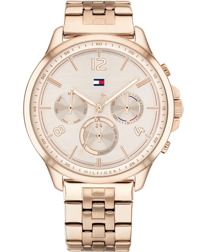 Tommy Hilfiger - Women's Carnation Gold-Tone Stainless Steel Bracelet Watch 38mm