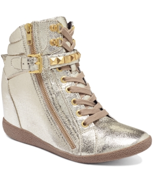 Steve Madden Womens Shoes Huston Wedge Sneakers Womens Shoes