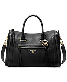 Michael Michael Kors Carine Leather Medium Satchel