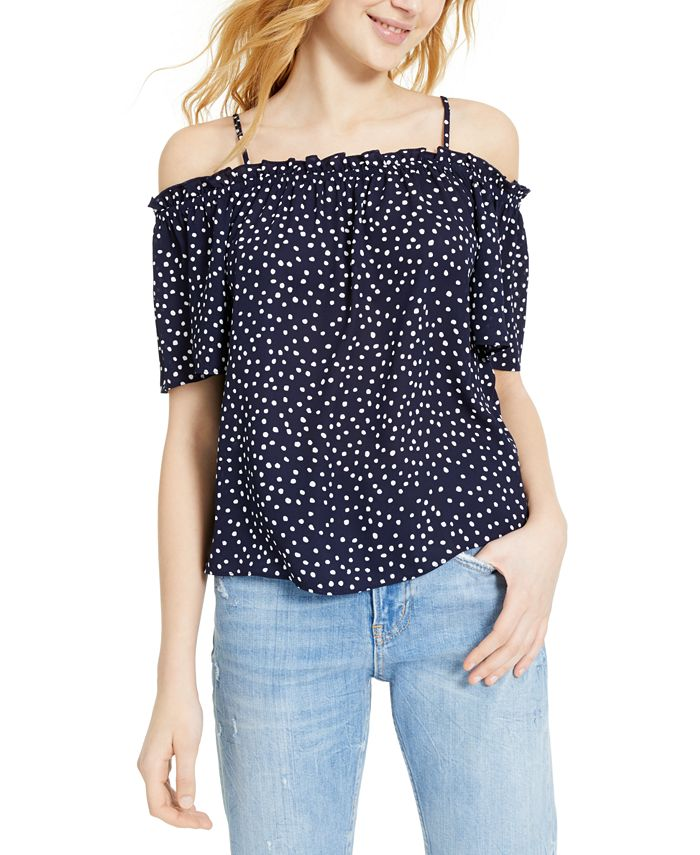 Hippie Rose - Juniors' Printed Off-The-Shoulder Top