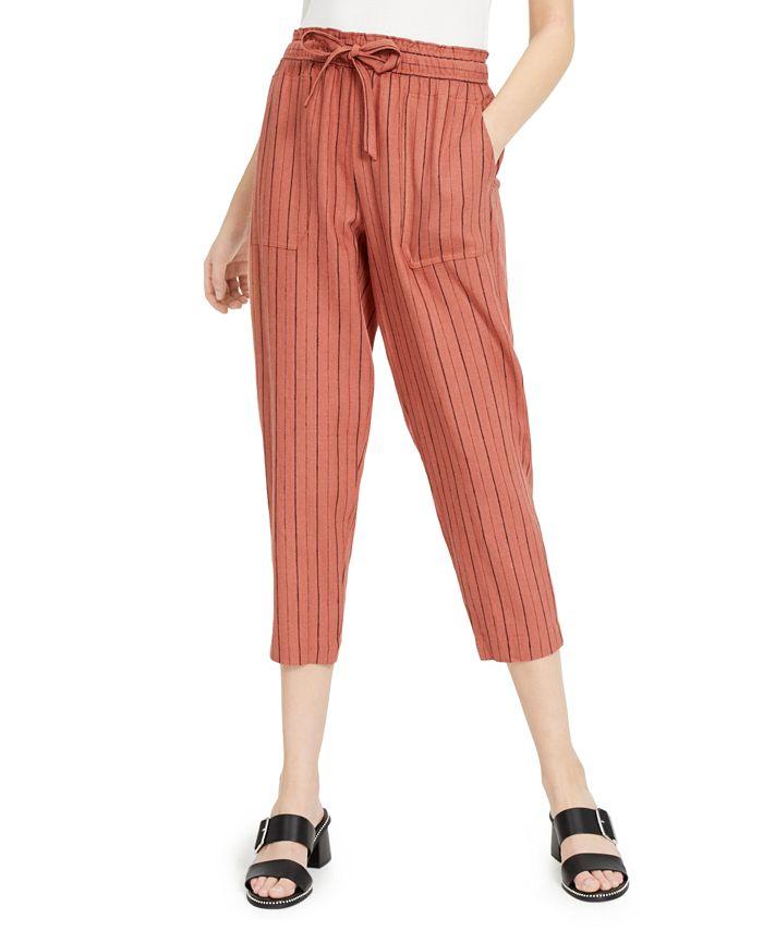 Indigo Rein - Juniors' Striped Cropped Soft Pants