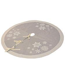 Manor Luxe Glistening Snow Christmas Tree Skirt