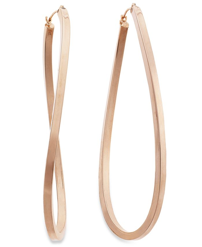 Macy's - 14k Rose Gold Vermeil Earrings, Figure 8 Hoop Earrings