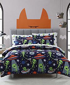 MHF Home Kids Allan the Peaceful Alien Twin Comforter Set