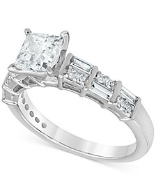 Diamond Princess Engagement Ring (1-1/2 ct. t.w.) in 14k White Gold