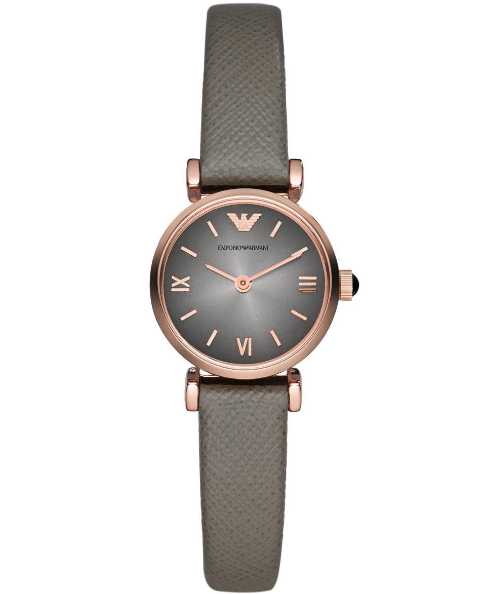 Emporio Armani Watch, Womens Gray Leather Strap 22mm AR1727   Watches   Jewelry & Watches