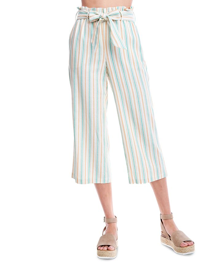 Fever - Striped Cropped Wide-Leg Pants