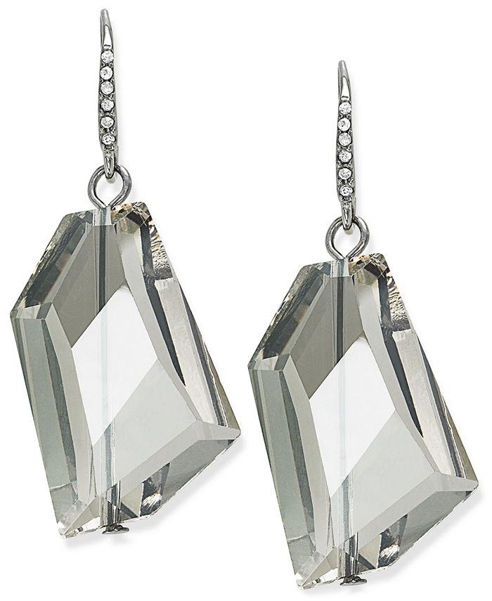ABS by Allen Schwartz - Earrings, Silver-Tone Glass Stone Drop Earrings