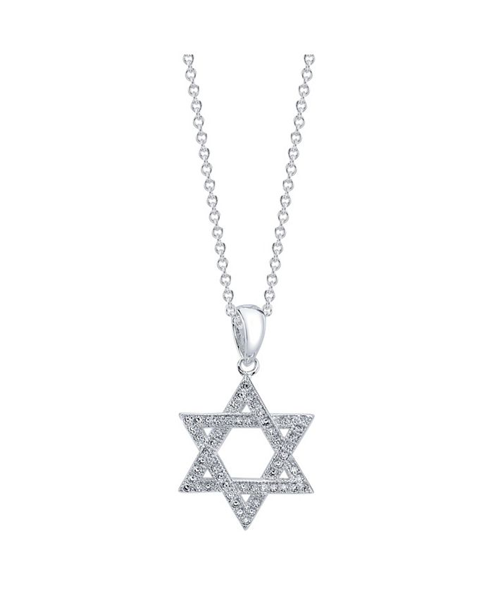 Unwritten - Silver Plated Cubic Zirconia Star of David Pendant Necklace