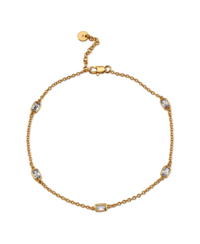 Unwritten Silver Plated Simple Gold Beaded Anklet & Reviews - Bracelets - Jewelry & Watches - Macy's