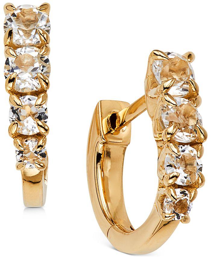 AVA NADRI - Crystal Huggie Hoop Earrings
