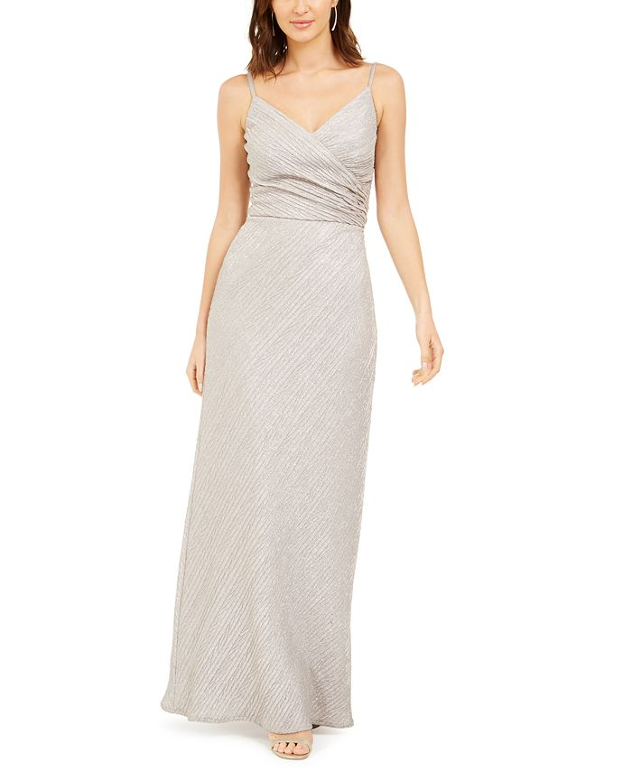 Nightway - Stretch Metallic Crossover Gown