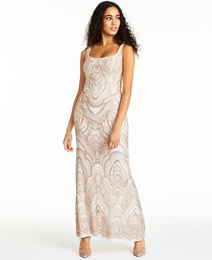 Jump - Juniors' Lace-Up Glitter Gown