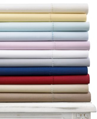 CLOSEOUT! Martha Stewart Collection 400 Thread Count Queen Flat Sheet