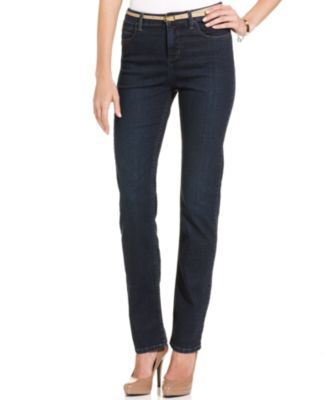 Image of Lee Platinum Gwen Straight-Leg Jeans, Only at Macy's