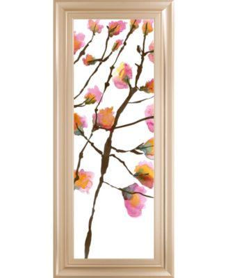 Inky Blossoms I by Deborah Velasquez Framed Print Wall Art - 18