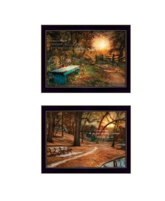 Resting Places 2-Piece Vignette by Robin-Lee Vieira, White Frame, 19