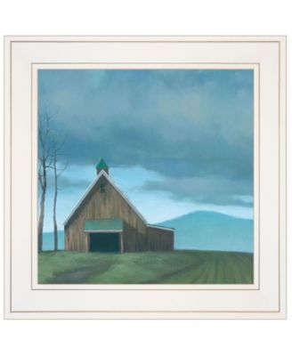 Lonesome Barn by Tim Gagnon, Ready to hang Framed Print, Black Frame, 14