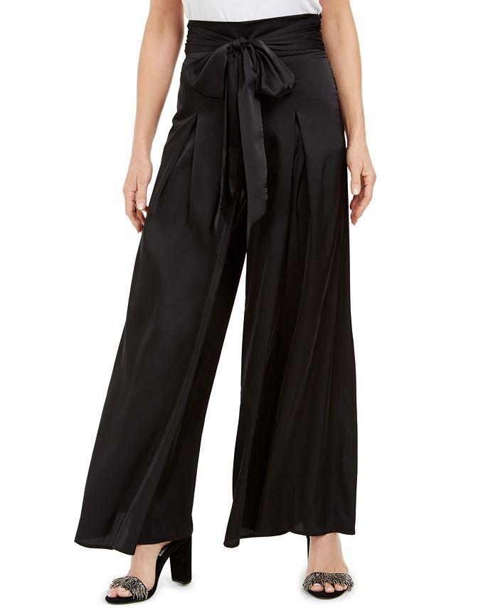 MSK - Tie-Front Wide-Leg Pants
