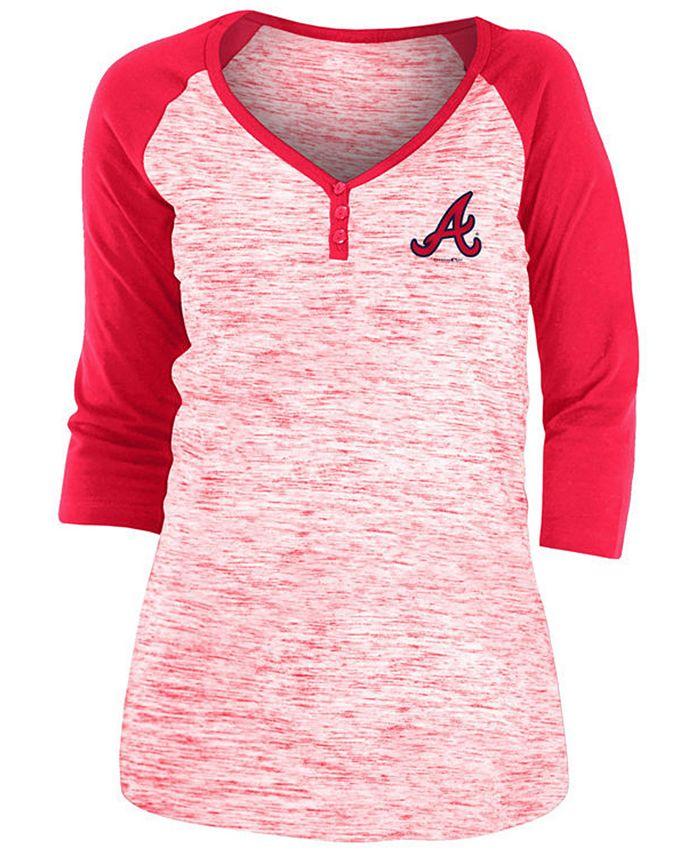 5th & Ocean - Atlanta Braves Women's Space Dye Raglan Shirt