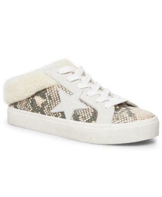 Polaris Faux-Fur Backless Sneakers