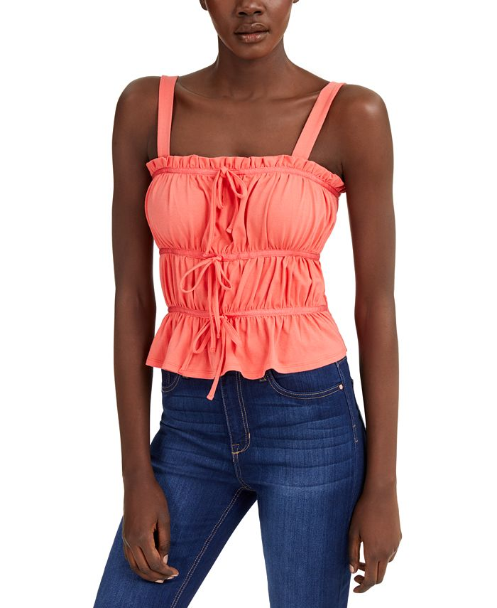 INC International Concepts - Ruched Tie Tank Top
