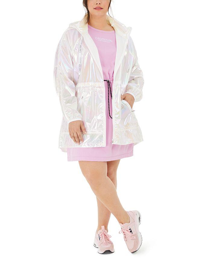 Calvin Klein - Plus Size Iridescent Hooded Jacket