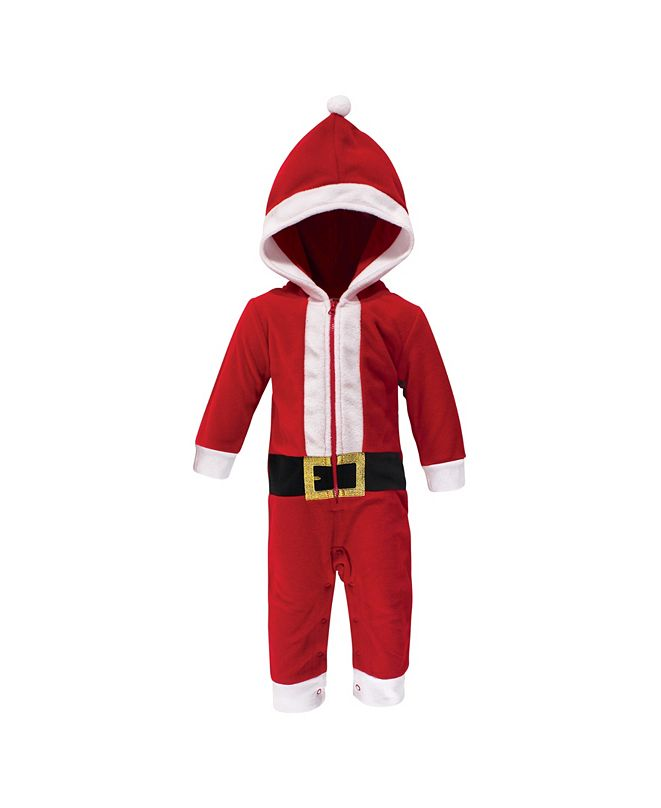 Hudson Baby Baby Girls and Boys Santa Fleece Coveralls and Playsuits Jumpsuits