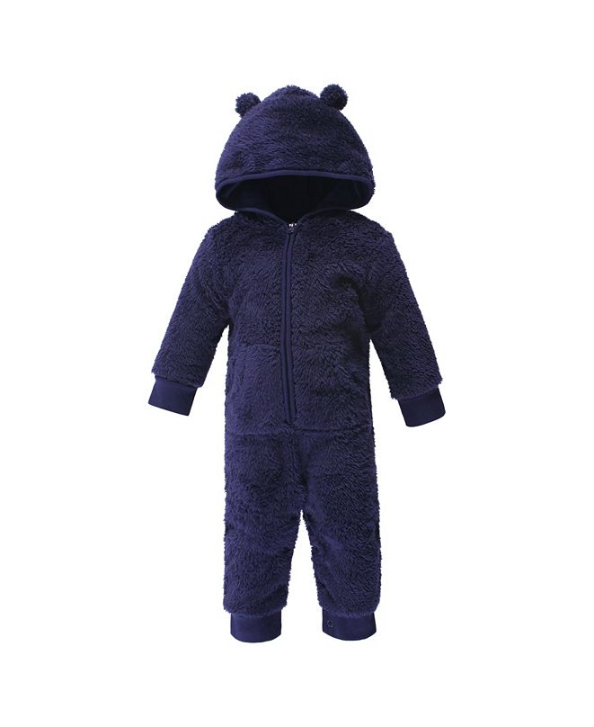 Hudson Baby Baby Girls and Boys Bear Fleece Jumpsuits, Coveralls and Playsuits