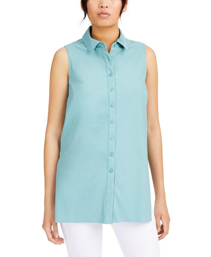 Alfani - Sleeveless Button-Front Tunic