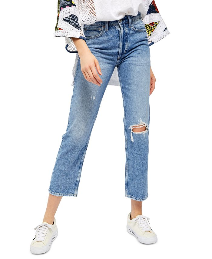 Free People - Fast Times Ripped Mom Jeans