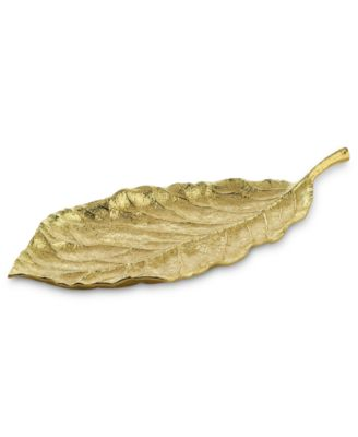 Michael Aram Gold Magnolia Medium Platter