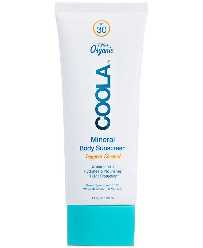 COOLA - Coola Mineral Body Organic Sunscreen Lotion SPF 30 - Tropical Coconut, 3.4-oz.