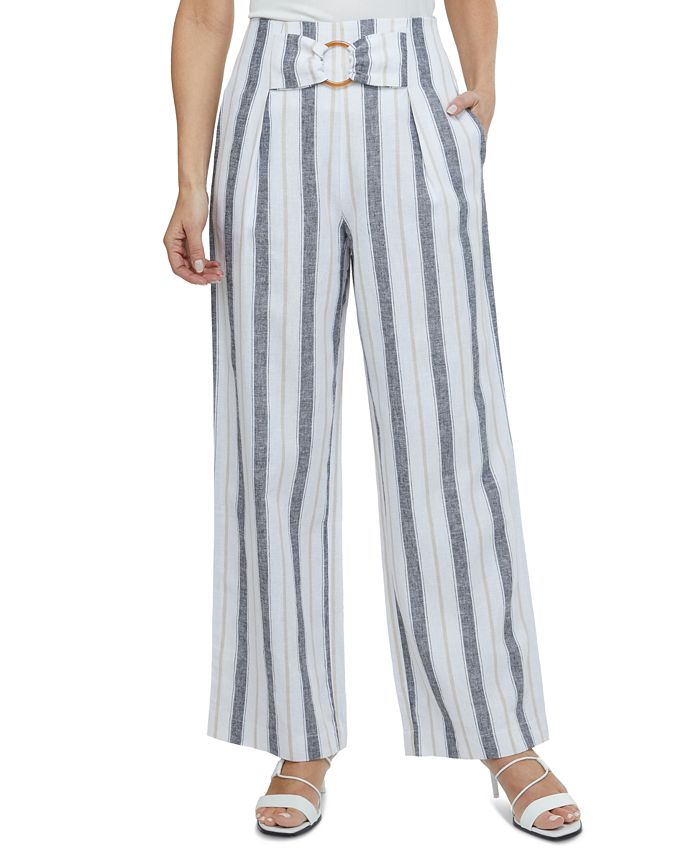 Laundry by Shelli Segal - Striped Wide-Leg Pants
