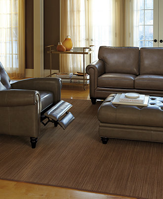 Martha Stewart Bradyn Leather Sofa Living Room Furniture Collection Furniture Macy 39 S