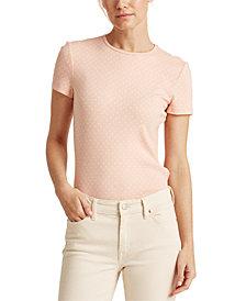 Lauren Ralph Lauren Polka-Dot Cotton-Blend T-Shirt