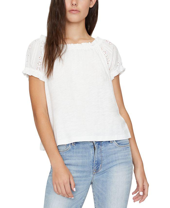 Sanctuary - Julia Crochet Sleeves T-Shirt