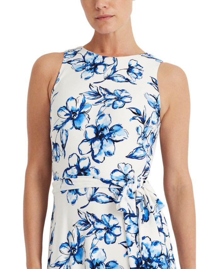 Lauren Ralph Lauren Floral Jersey Dress  & Reviews - Dresses - Women - Macy's