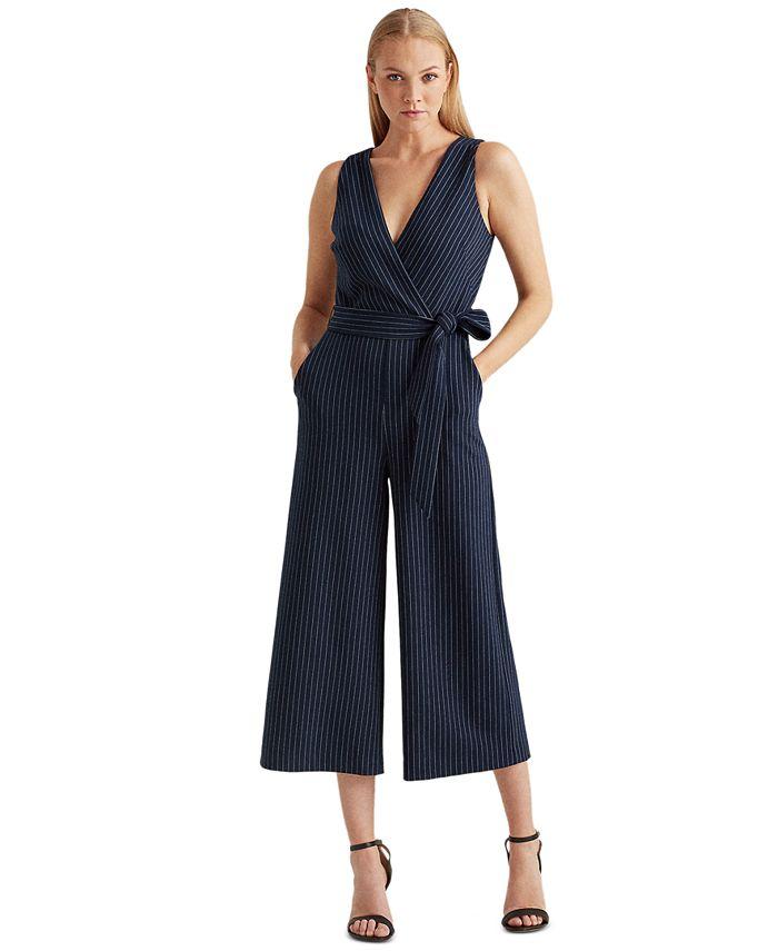 Lauren Ralph Lauren - Pinstripe Wide-Leg Jumpsuit