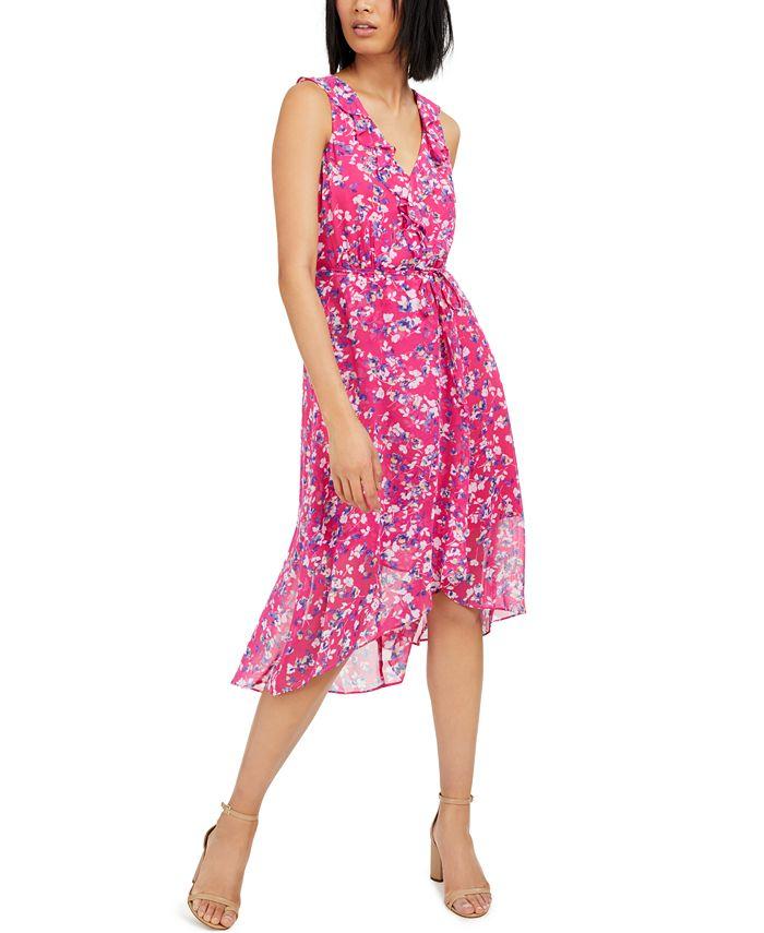 INC International Concepts - Mosaic-Floral Chiffon Dress