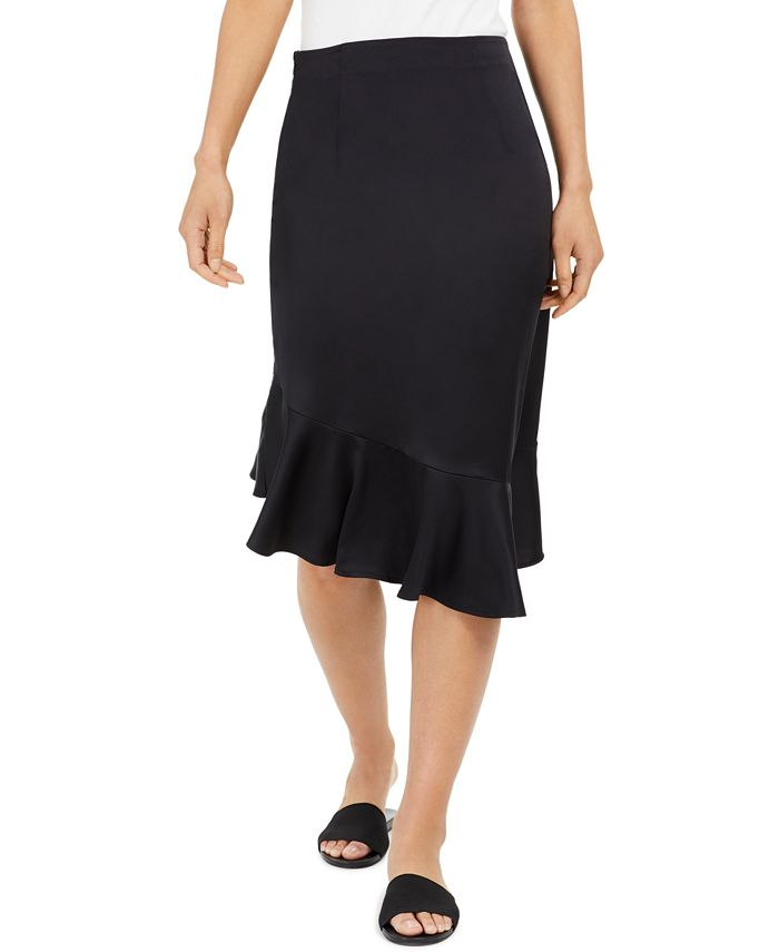Thalia Sodi - Asymmetrical Flounce-Hem Skirt