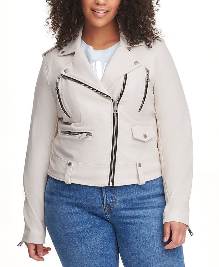 Levi's - Trendy Plus Size Faux-Leather Moto Jacket