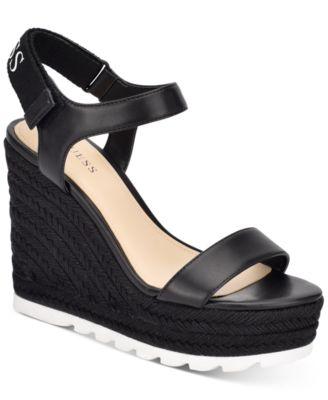 Golden Espadrille Wedge Sandals