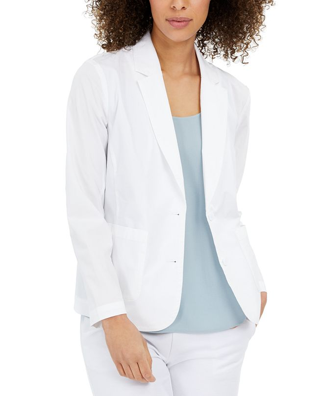 Eileen Fisher Organic Notched-Collar Double-Button Jacket