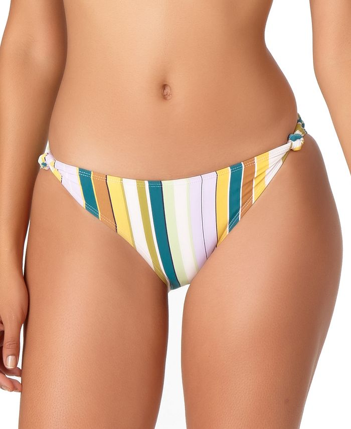 Anne Cole - Striped Knot-Side Hipster Bikini Bottoms