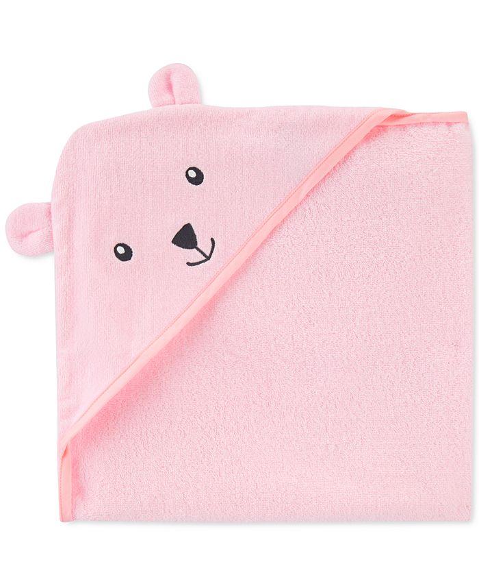 Carter's - Baby Girls Hooded Cotton Bear Towel